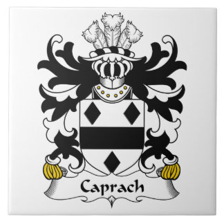 Escudo de la familia de Caprach Azulejo Cerámica