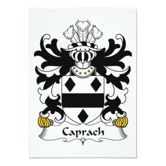 """Escudo de la familia de Caprach Invitación 5"""" X 7"""""""