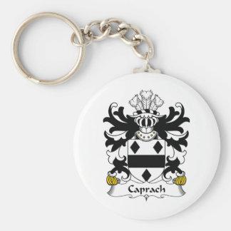 Escudo de la familia de Caprach Llavero Redondo Tipo Pin