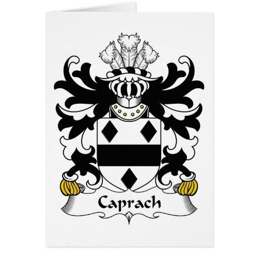 Escudo de la familia de Caprach Tarjeta De Felicitación