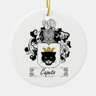 Escudo de la familia de Caputo Adorno Navideño Redondo De Cerámica