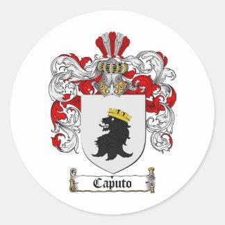 ESCUDO DE LA FAMILIA DE CAPUTO - ESCUDO DE ARMAS PEGATINA REDONDA