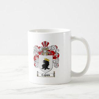 ESCUDO DE LA FAMILIA DE CAPUTO - ESCUDO DE ARMAS TAZA DE CAFÉ
