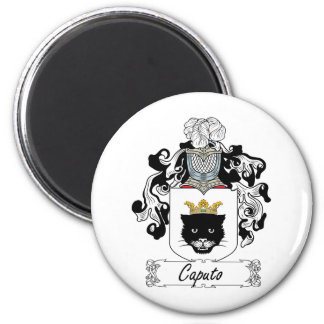 Escudo de la familia de Caputo Imán Redondo 5 Cm