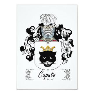 """Escudo de la familia de Caputo Invitación 5"""" X 7"""""""