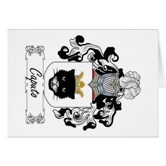 Escudo de la familia de Caputo Tarjeta De Felicitación