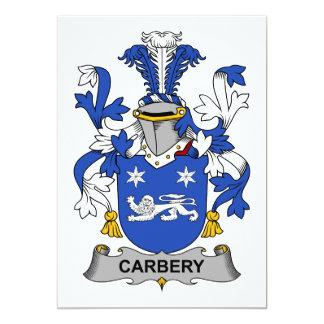 Escudo de la familia de Carbery Invitación 12,7 X 17,8 Cm