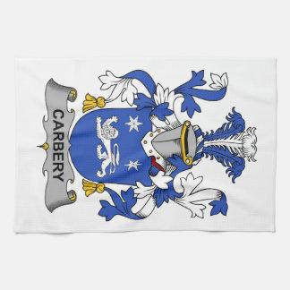Escudo de la familia de Carbery Toallas