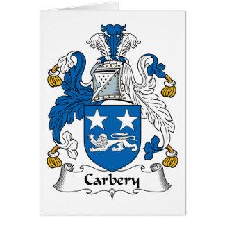 Escudo de la familia de Carbery Tarjetón