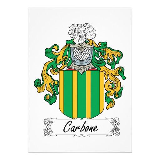 Escudo de la familia de Carbone Anuncio Personalizado