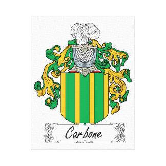 Escudo de la familia de Carbone Impresión En Lona