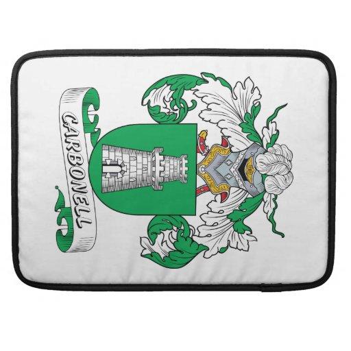 Escudo de la familia de Carbonell Funda Para Macbook Pro