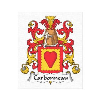 Escudo de la familia de Carbonneau Impresión En Tela
