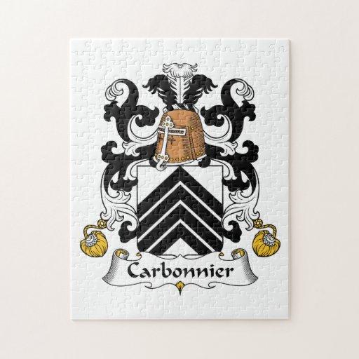 Escudo de la familia de Carbonnier Rompecabezas Con Fotos