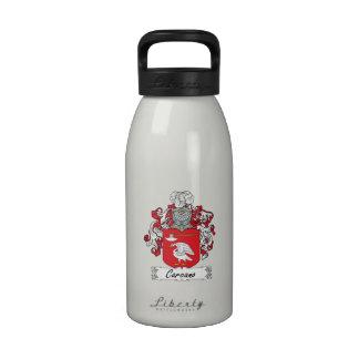 Escudo de la familia de Carcano Botellas De Beber
