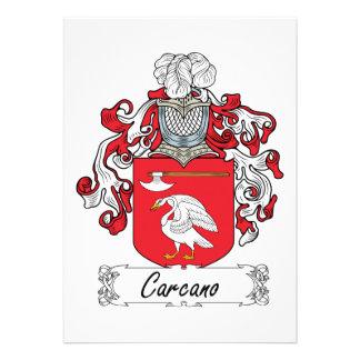 Escudo de la familia de Carcano Invitacion Personalizada