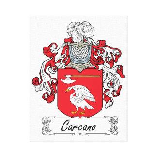 Escudo de la familia de Carcano Lona Envuelta Para Galerías