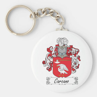 Escudo de la familia de Carcano Llavero Redondo Tipo Pin