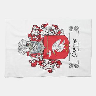 Escudo de la familia de Carcano Toallas De Cocina