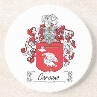 Escudo de la familia de Carcano Posavasos Manualidades