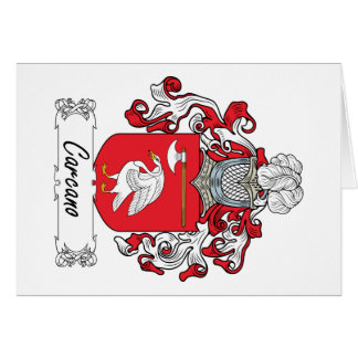 Escudo de la familia de Carcano Felicitaciones