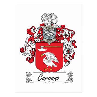 Escudo de la familia de Carcano Postal