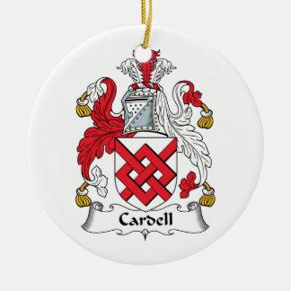 Escudo de la familia de Cardell Adorno Navideño Redondo De Cerámica