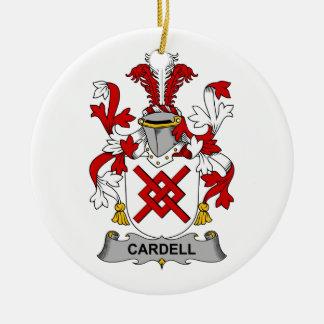 Escudo de la familia de Cardell Adorno Redondo De Cerámica