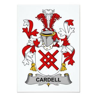 """Escudo de la familia de Cardell Invitación 5"""" X 7"""""""