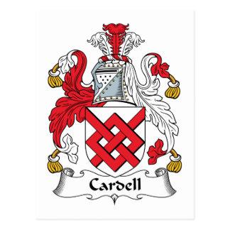Escudo de la familia de Cardell Postal
