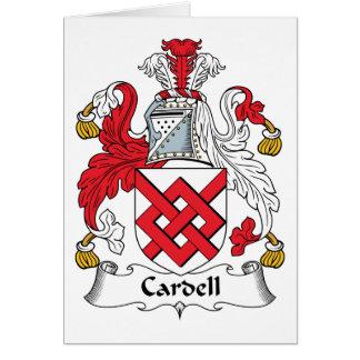 Escudo de la familia de Cardell Tarjeta De Felicitación