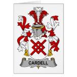 Escudo de la familia de Cardell Tarjetón