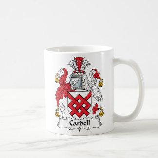 Escudo de la familia de Cardell Taza De Café