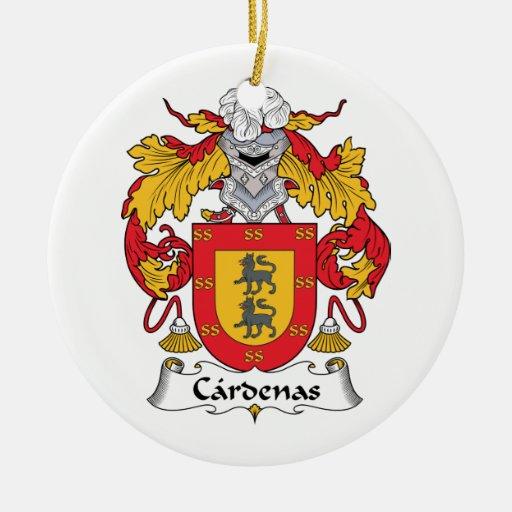 Escudo de la familia de Cardenas Adorno Navideño Redondo De Cerámica