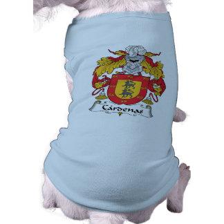 Escudo de la familia de Cardenas Playera Sin Mangas Para Perro