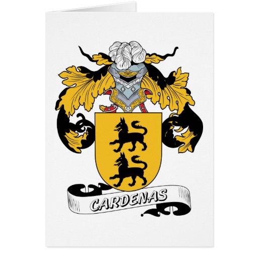 Escudo de la familia de Cardenas Tarjeta De Felicitación
