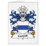 Escudo de la familia de Cardiff Felicitaciones