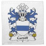 Escudo de la familia de Cardiff Servilleta