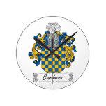 Escudo de la familia de Carducci Relojes De Pared