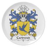 Escudo de la familia de Cardwed Platos Para Fiestas
