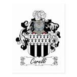 Escudo de la familia de Carelli Postales
