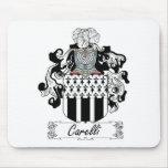 Escudo de la familia de Carelli Alfombrillas De Raton