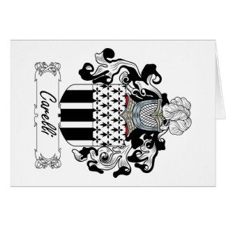 Escudo de la familia de Carelli Tarjeta De Felicitación