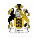 Escudo de la familia de Carew Postal