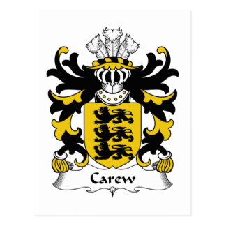 Escudo de la familia de Carew Postales