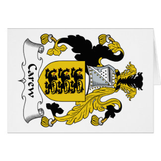 Escudo de la familia de Carew Tarjeta De Felicitación
