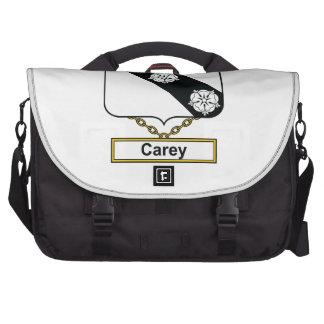 Escudo de la familia de Carey Bolsas Para Portátil