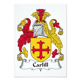 """Escudo de la familia de Carlill Invitación 5"""" X 7"""""""