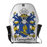 Escudo de la familia de Carmarthen Bolsas Messenger