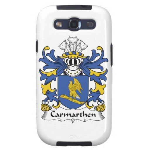 Escudo de la familia de Carmarthen Samsung Galaxy S3 Fundas